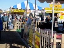 Outside the big tent at the Quartzsite, Az. RV show, 2013.